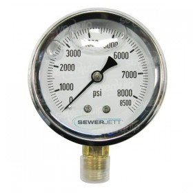 Sewerjett Pressure Gauge 5000psi